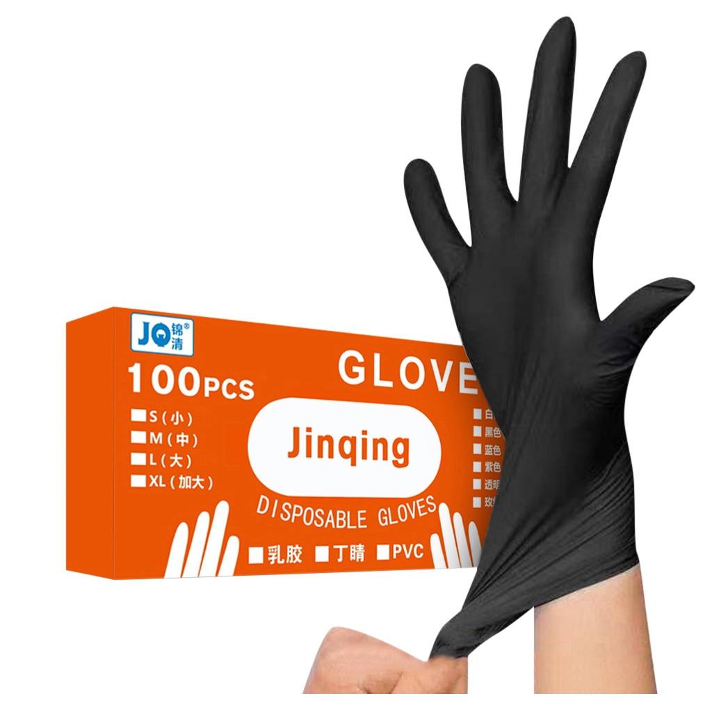Guantes de nitrilo mecánicos desechables cómodos de goma 100PC, guantes de examen, productos de limpieza para el hogar
