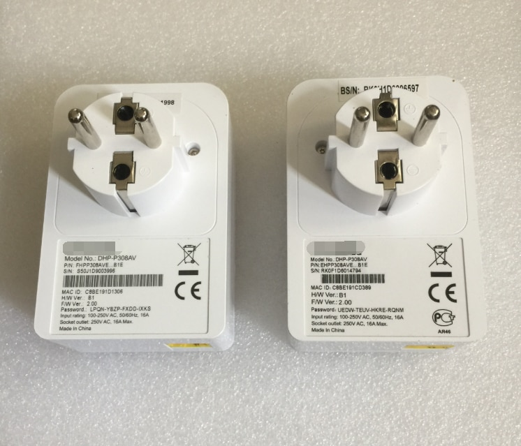 0.95New 500 Мбит/с DHP-P308AVPowerline адаптер HomePlug сквозной адаптер для D-LINK IPTV PLC STB DVB HTPC маршрутизатор EU вилка Версия