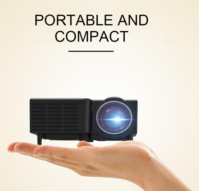 UNIC UC28CB проектор поддерживает USB, TF, av-интерфейс поддерживает проводной мобильный телефон с той же частотой экрана + Bluetooth