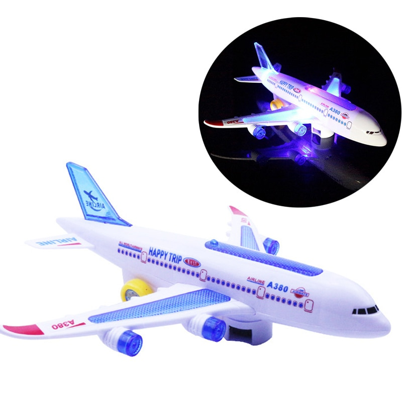 Kids Glider Plane Toys Electric Music Light Automatic Steering Plane Passenger Aircraft Airplane Model Toy Kid Outdoor Toy Games enlarge