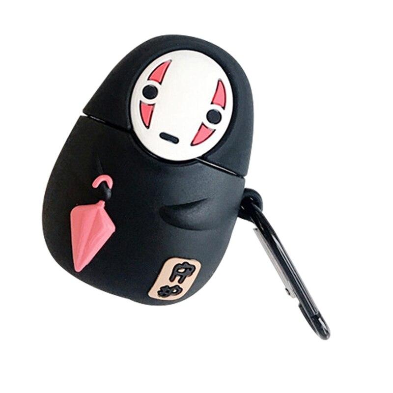 Fundas de auriculares para Airpods 1 y 2, de Anime japonés Kaonashi con Bluetooth sin rostro para hombre