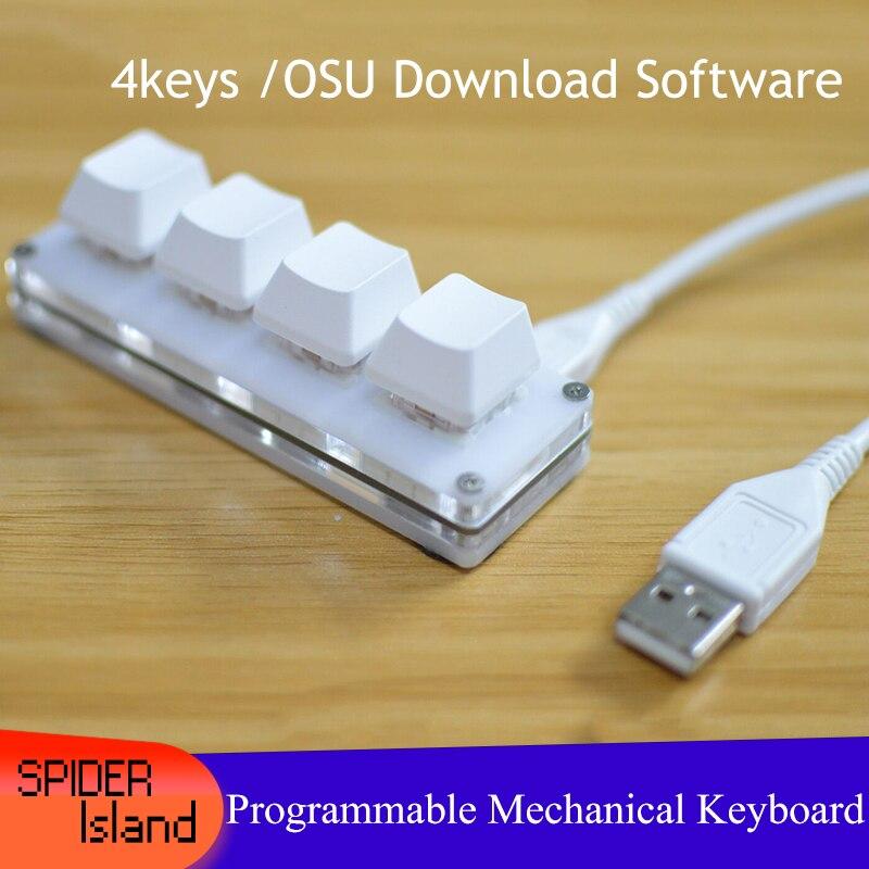 4 مفاتيح لوحة المفاتيح الميكانيكية للألعاب الرسم التبديل مخصص ماكرو برمجة لوحة المفاتيح لماك ويندوز الساخن مبادلة Outemu