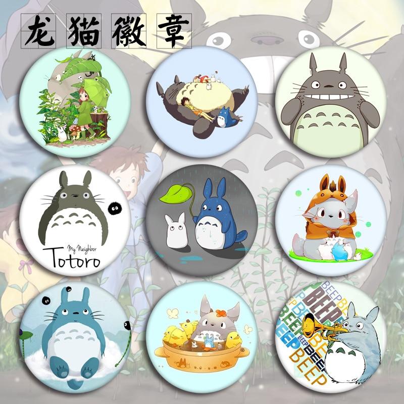Милые Мультяшные значки Тоторо на рюкзаке Японские Аниме Значки для одежды Вышивка Аппликации детская одежда