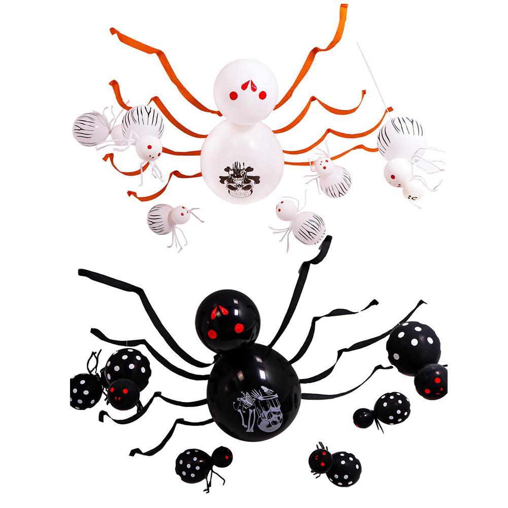 Halloween aranha balão festa de halloween decoração de halloween realista horror imagem vívida festa adereços halloween balão conjunto