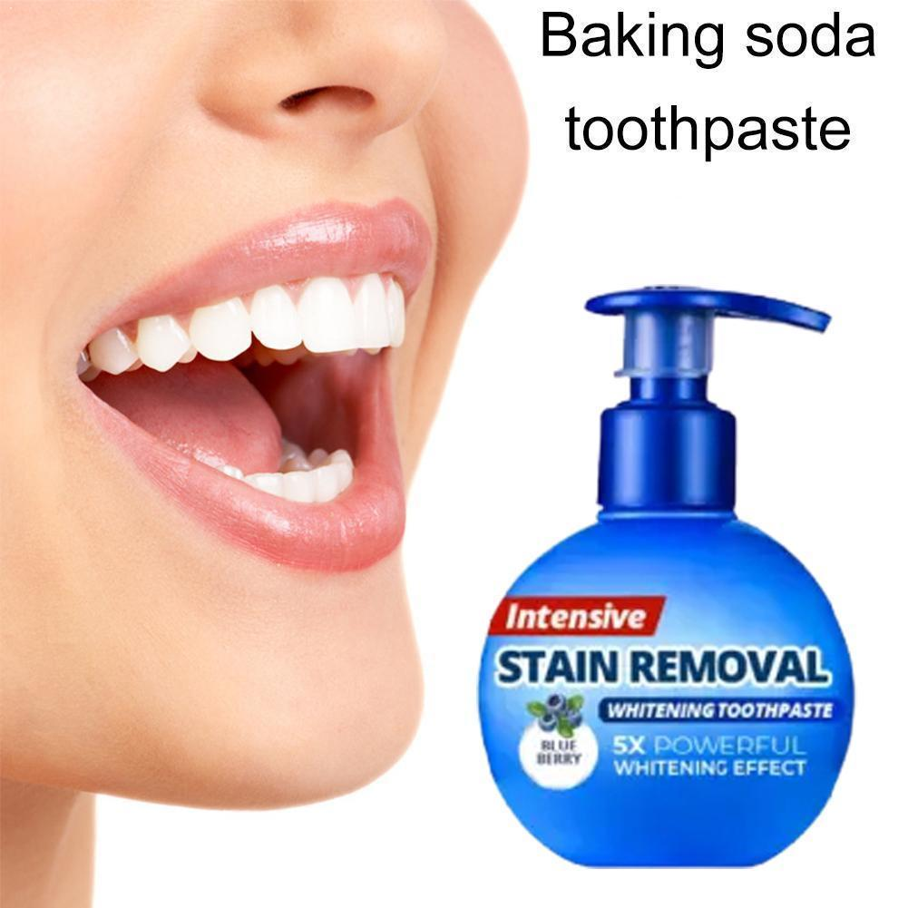 Whitening Passion Fruit Baking Soda Toothpaste Intensive Remover Teeth Stain V1K0