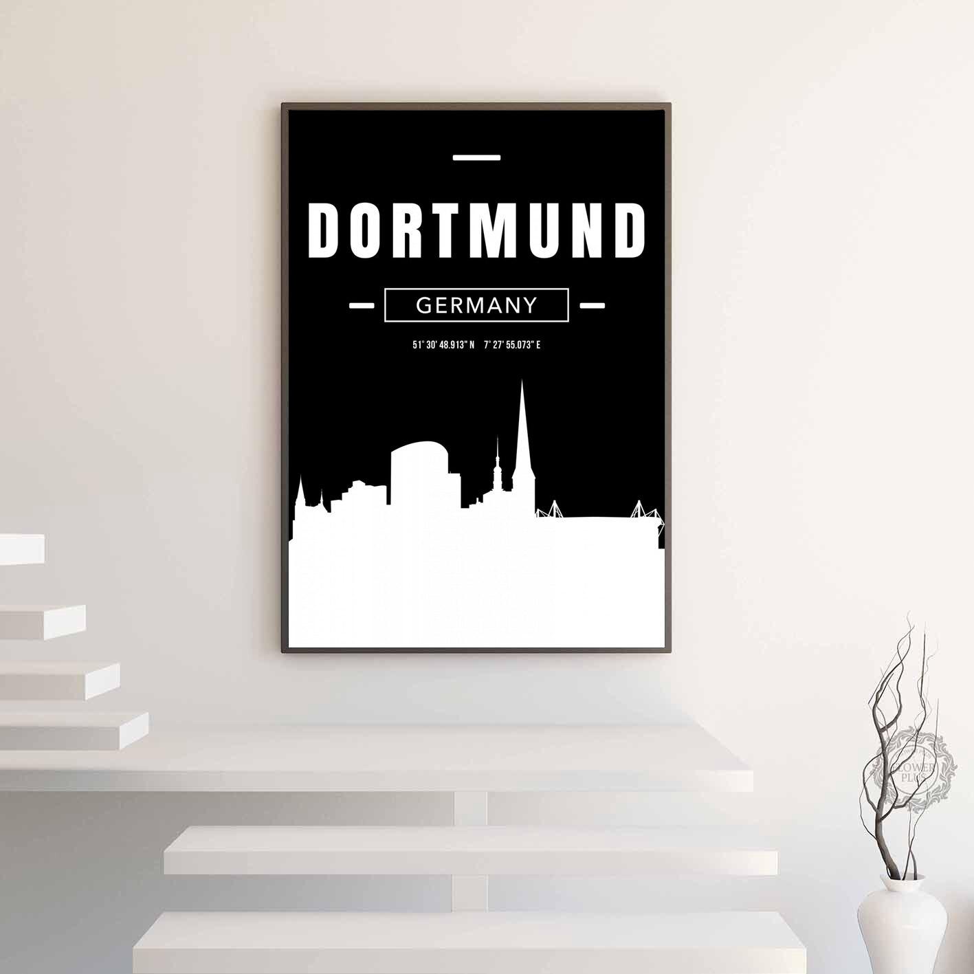 Cartel de mapa de la ciudad de dortmundo Impresión de lienzo decoración del hogar sin marco