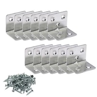 12 pieces corner brace joint right angle l bracket stainless steel shelf support fastener with hardware screws