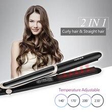 Профессиональный Выпрямитель для волос, электрическая плойка для волос, плоский утюжок, отрицательные ионы, выпрямление волос, щипцы для завивки с светодиодный дисплеем 40D