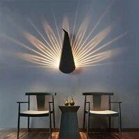 Lampe murale dinterieur Led E27 en forme de paon  minimaliste et moderne  pour chambre a coucher  salon  salle de bain  Restaurant  chevet  decor nordique pour la maison