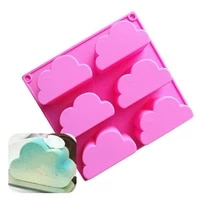 1pcs cloud shape mold silicone baking accessories 3d diy sugar craft chocolate cutter mould fondant cake decorating tool