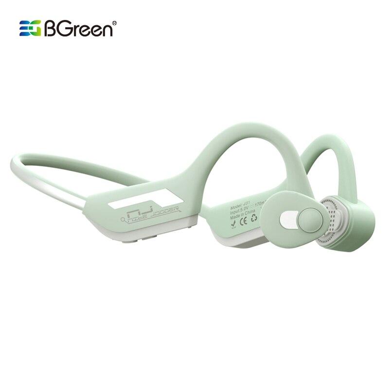 BGreen J31 Condução Óssea Fone De Ouvido Esporte Fone de Ouvido Bluetooth Fones De Ouvido À Prova D Água Ciclismo Com Pintura Luminosa Para A Execução de Caminhadas