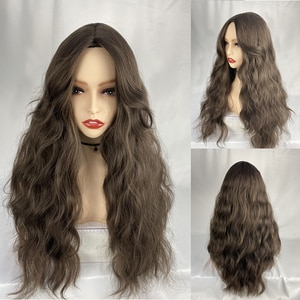 Cosplay Long Wave Black Synthetic Wigs for Women Lolita Daily Party Heat Resistant Fibre Wigs