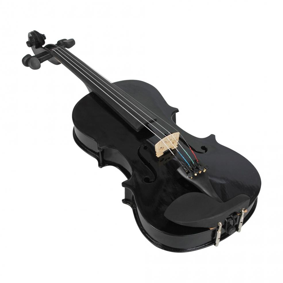 4/4 Full Size Black Lightweight Acoustic Violin Fiddle with Case & Bow & Rosin for Violin Beginners enlarge