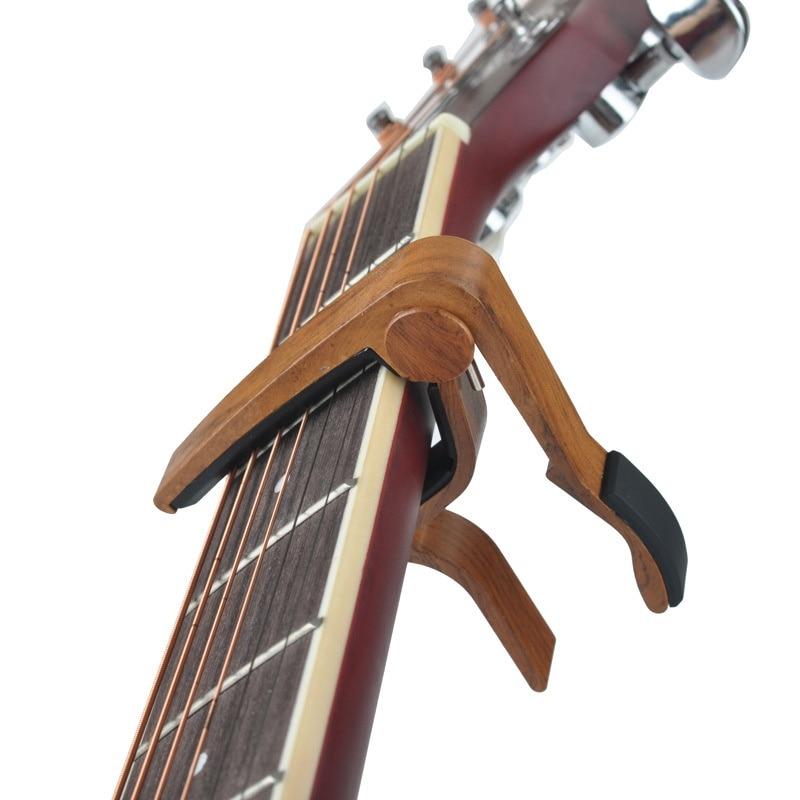Clip de ajuste de guitarra de madera MA-12 Capo 6 cuerdas cejilla guitarra acústica aleación de Zinc para guitarras eléctricas acústicas 3 colores