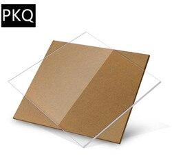 Plástico acrílico acrílico da folha de perspex do plexiglás acrílico da argila da placa 6x6cm transparente das folhas acrílicas da espessura de 10 pces 1mm para trabalhar madeira