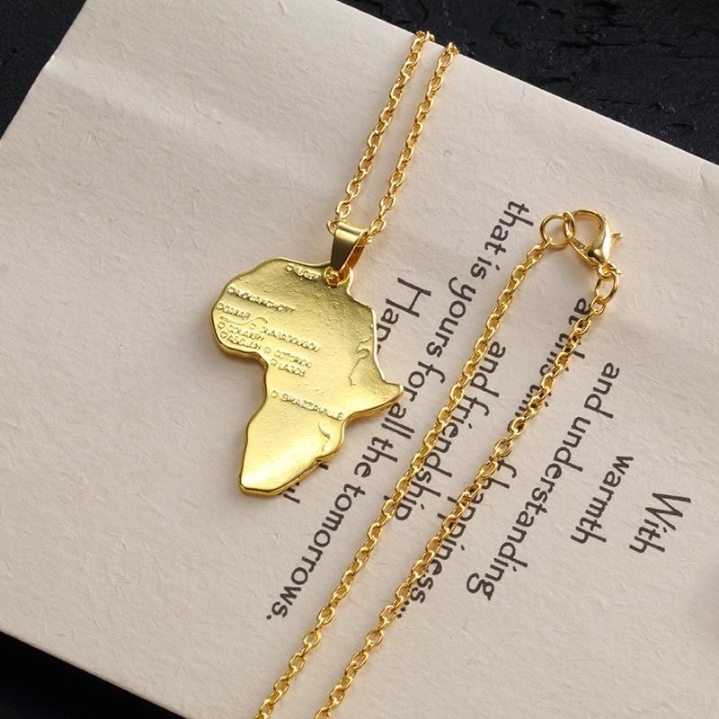 Золотое серебряное Плиссированное Африканское ожерелье кулон континентальные образные украшения