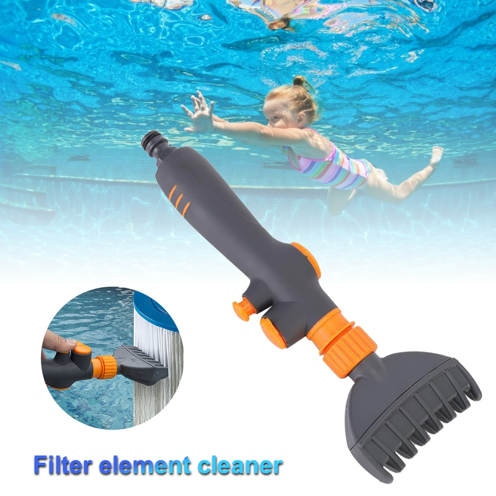Spa Filter Jet Cleaner & Premium Pool Cleaning Brush Pool Hot Tub Spa Water Wand Cartridge Hand Held for Swimming Pool