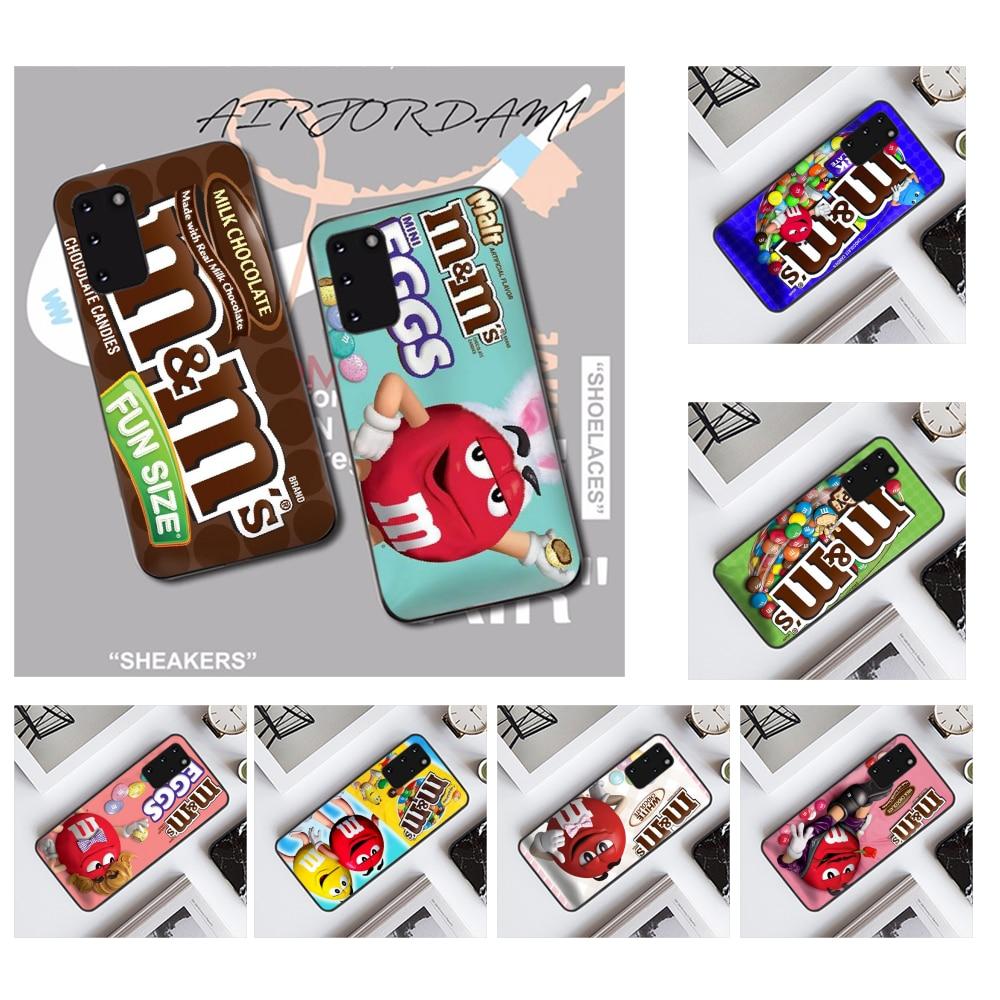 NBDRUICAI, carcasa de teléfono de silicona suave de TPU y Chocolate M & Ms para Samsung S20 plus, Ultra S6, S7 edge, S8, S9 plus, S10, 5G