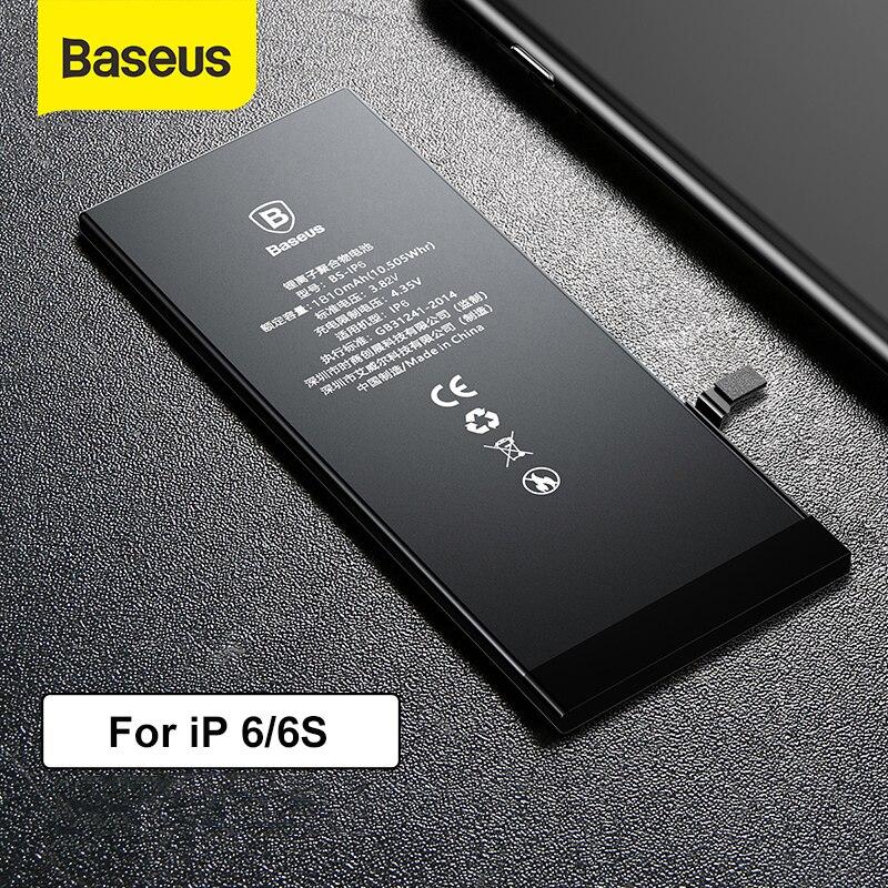 بطارية هاتف من Baseus لهواتف iPhone 6 6S بطارية 2200mAh عالية السعة للاستبدال لهواتف iPhone 6s مع أدوات إصلاح مجانية