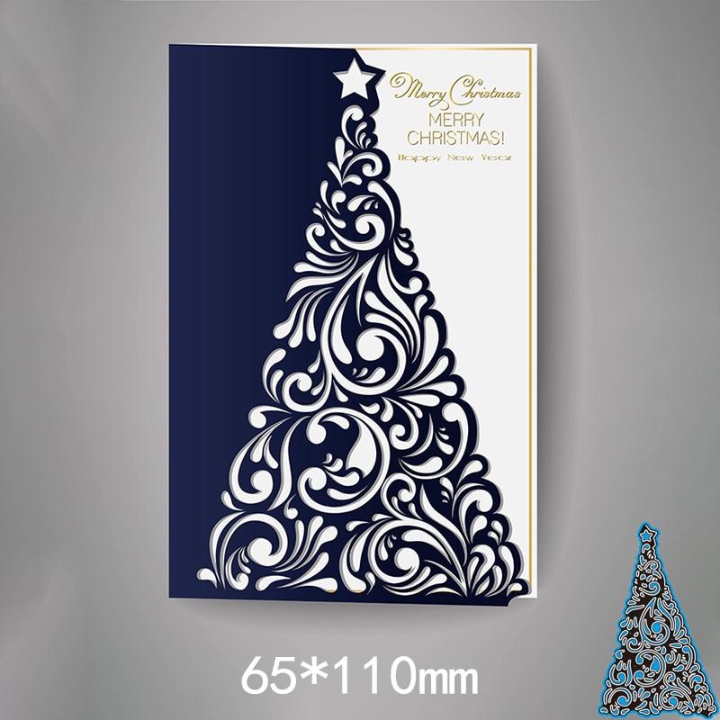 70*110mm árvore de natal metal aço quadros corte dados diy sucata reserva álbum de fotos gravando cartões de papel