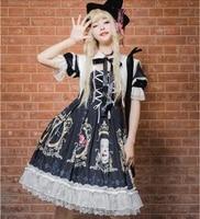 japanese lolita sweet op dress retro court style gothic dress cos loli tea party student princess dress party vestidos