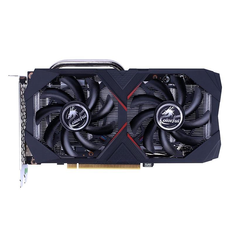 Dual Fans GeForce®GTX 1660 Ti 12nm Base 1500 Mhz; impulso 1770Mhz 6GB 192bit GDDR6 DP + + HDMI + DVI 12,1/4,5 serie colorida
