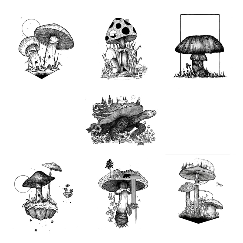 2021 New DIY Clear Stamps For Scrapbooking Paper Making Mushroom Landscape Embossing Craft Card Transparent Seal No Dies