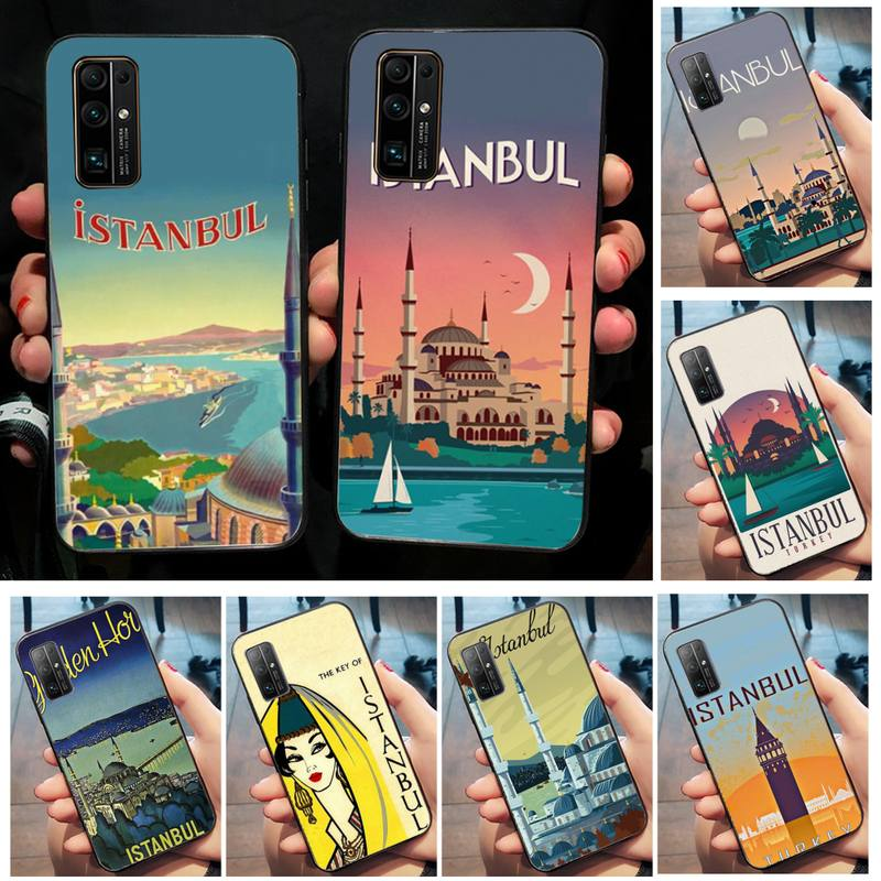 Turkey Istanbul travel poster Phone Case for Huawei Honor 20 10 9 8 8x 8c 9x 7c 7a Lite view pro