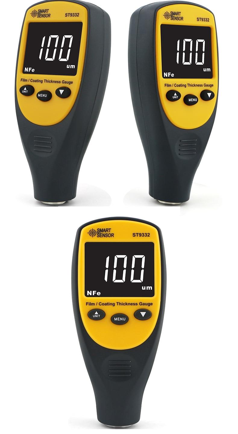 ST9332  Portable Mini Digital Plastic Paint Car Film Meter Leather Tester Coating Thickness Gauge enlarge