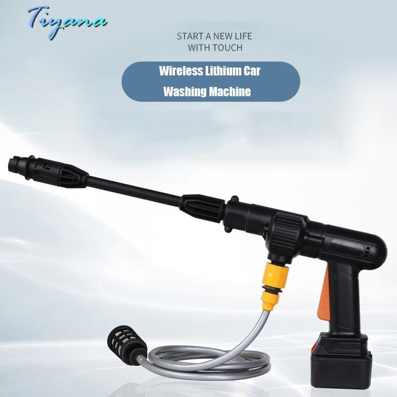 Wireless Lithium Battery Car Washing Machine High Pressure Water Gun Household Charging Electric Portable Car Booster Water Pump