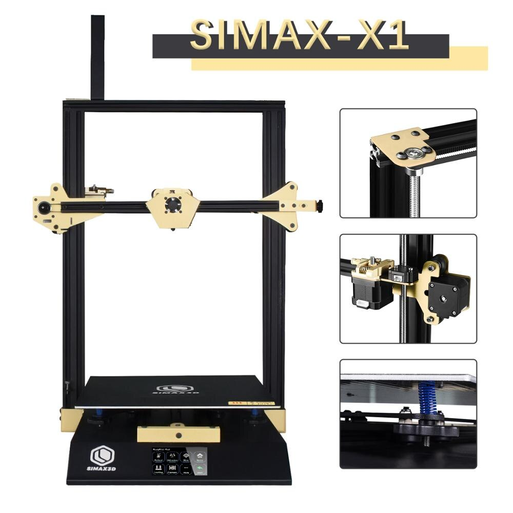 SIMAX3D-X1 impresora 3d DIY X1 grado Industrial pre-ensamblado tamaño grande alta precisión impressora 3d impresora hotend pantalla táctil