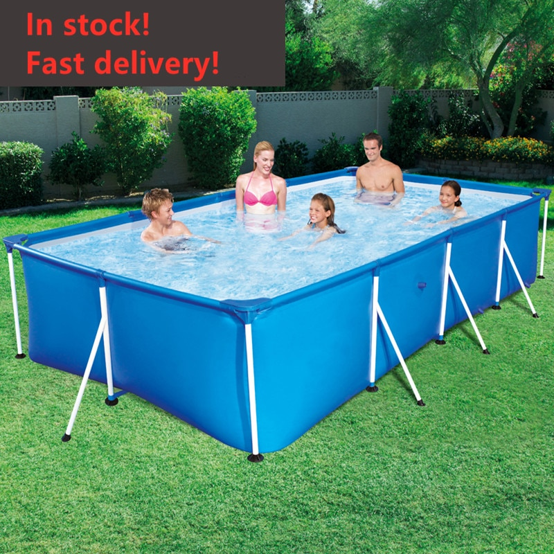 2021 large bracket swimming pool outdoor children home paddling pool square swimming pool children foldable adult pond