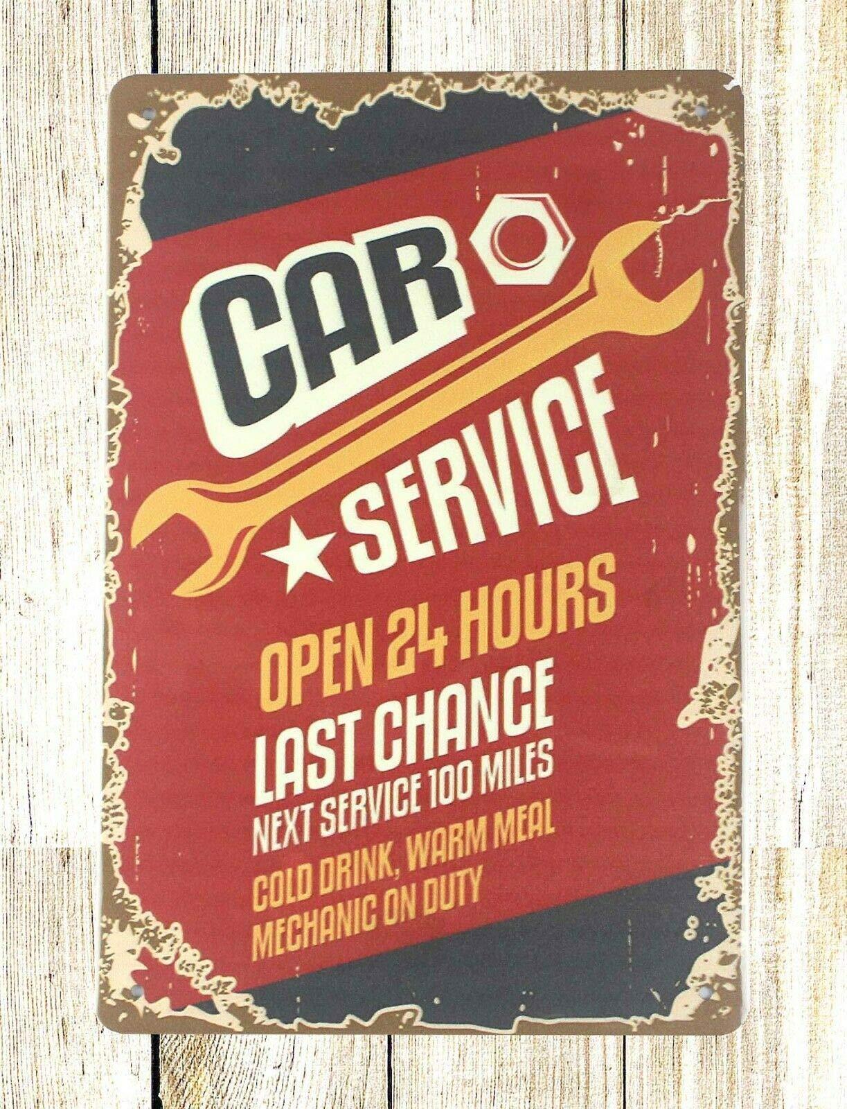 Металлические оловянные знаки, винтажные автомобильные услуги, домашний бар, паб, Забавный Ретро настенный художественный знак 12 дюймов X 8 ...