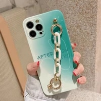 simple gradient phone case for iphone 12 pro coque ins letters wristband case for iphone 11 11pro max xr xsmax x 7p 7 8 fundas