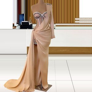Elegant Ceremony Evening Dresses Chic 2021 Night Dinner Party Prom Long Dress for Women  Robe Soiree Sukienka Special Occasion