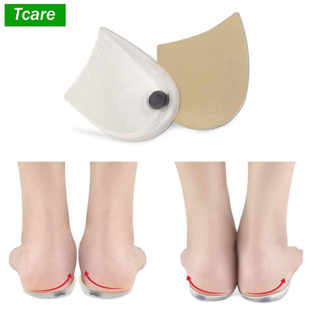 1 пара Магнитная терапия силиконовые стельки ортезирования X/O типа ноги гелевый