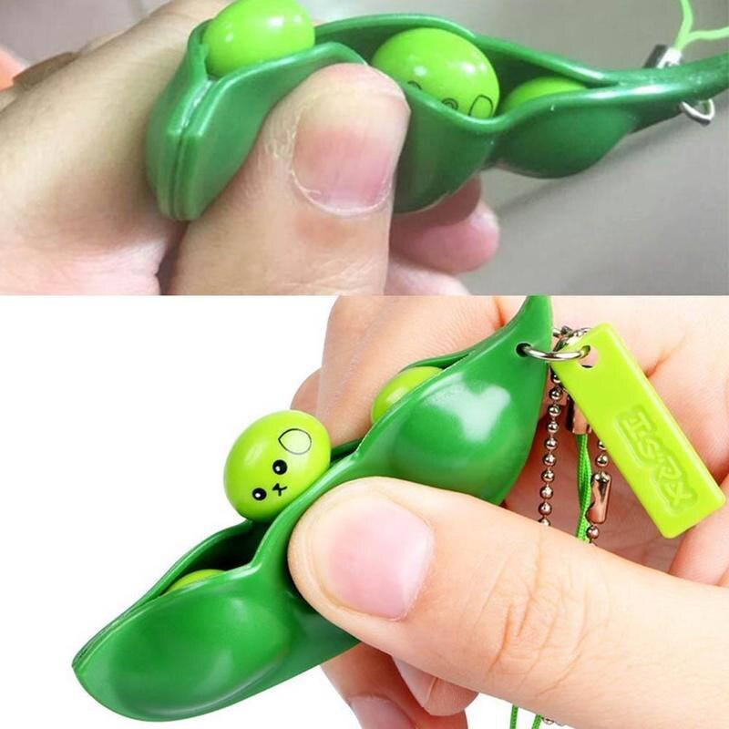 Anti Stress Squeeze Edamame Toys Peas Beans Decompression Squeeze Anti Stress Adult Fidget Stress Toy