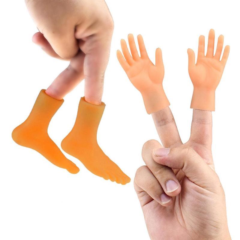 Dedo fantoche brinquedo criativo pvc esquerda mão direita pés modelo criança modelo do bebê boneca mini criança bebê boneca brinquedos do favor do bebê