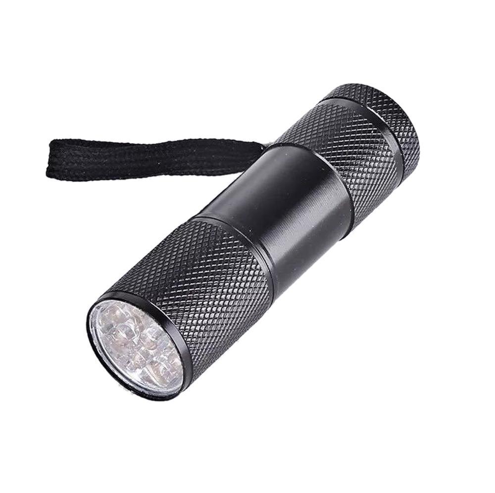 9W UV Resin Curing Lamp Light 9 LED 395nm UV Blacklight Flashlights Jewelry Tool