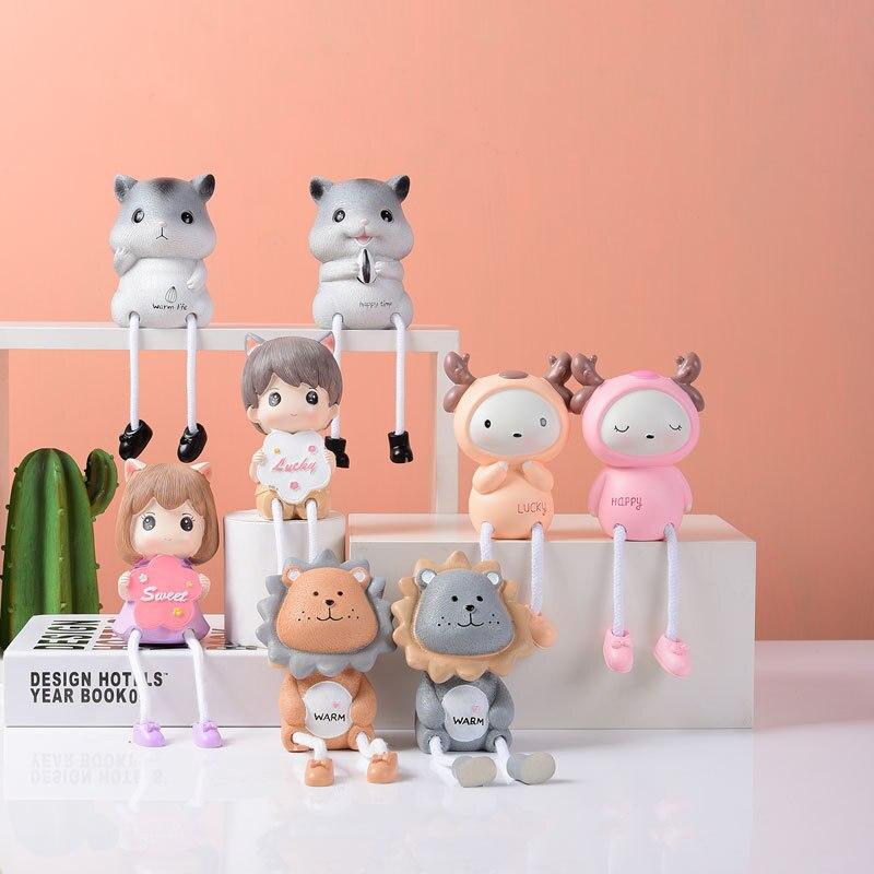 Украшения для кукол 2 шт., настольные декоративные украшения из смолы, креативные настенные украшения для магазина молочного чая