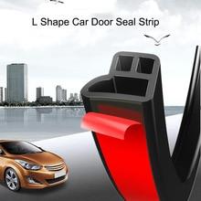 4m L forme voiture porte joint bande Auto isolation phonique anti-poussière bande voiture Rebber joint bande autocollant capot tronc bord autocollant