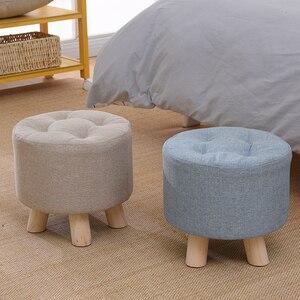 fashion home stool sofa adult bench chair squatty potty silla para maquillaje stools dining bench Fabric Minimalist Modern