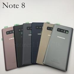 Para samsung galaxy note 8 n950 n950f n9500 SM-N950F traseira da bateria porta capa de vidro traseiro habitação caso substituir bateria note8