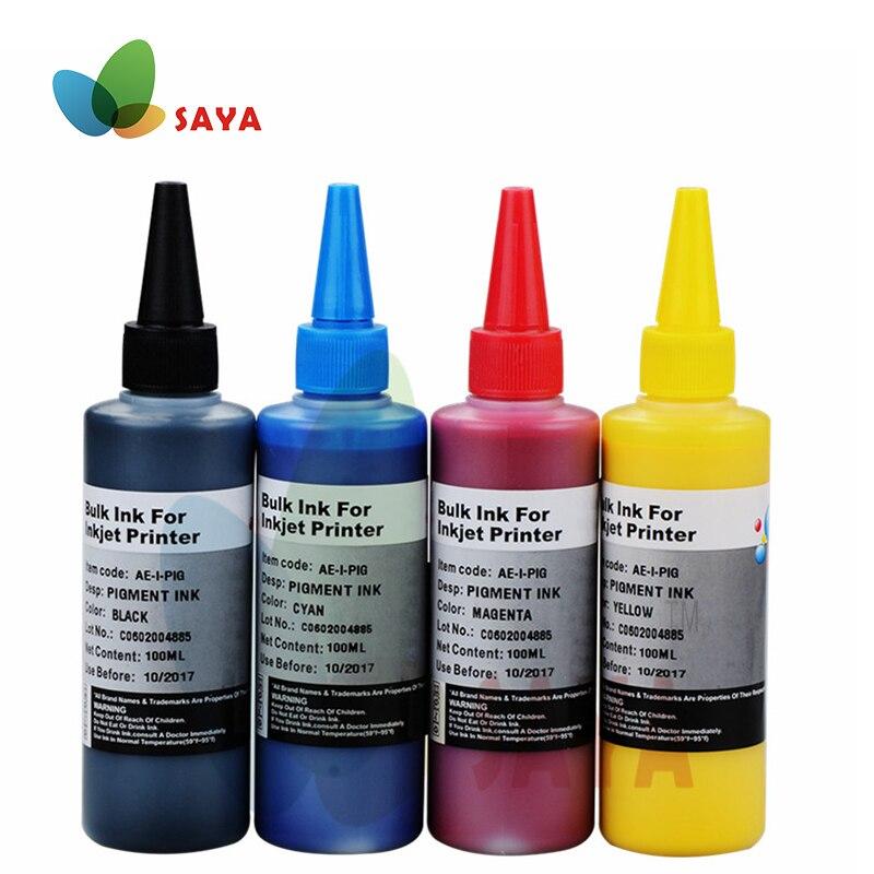 Kit de recarga CISS de 400ml, tinta de pigmento resistente al agua CMYK para Epson, tinta General para impresoras de inyección Epson Plgment