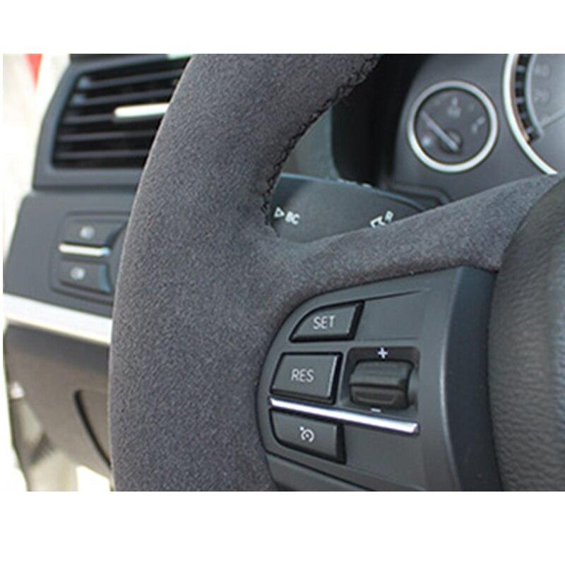 For BMW F30 Alcantara Car Steering Wheel Case  Car Accessories Interior Parts Braiding Cover Steering Wheel Leather Braid 12-19 enlarge
