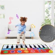 Tapete Musical plegable de 148x60cm/ 58x24 pulgadas, alfombrilla de Piano, teclado infantil, Alfombra de música electrónica, tacto, jugar aprendiendo a cantar, manta