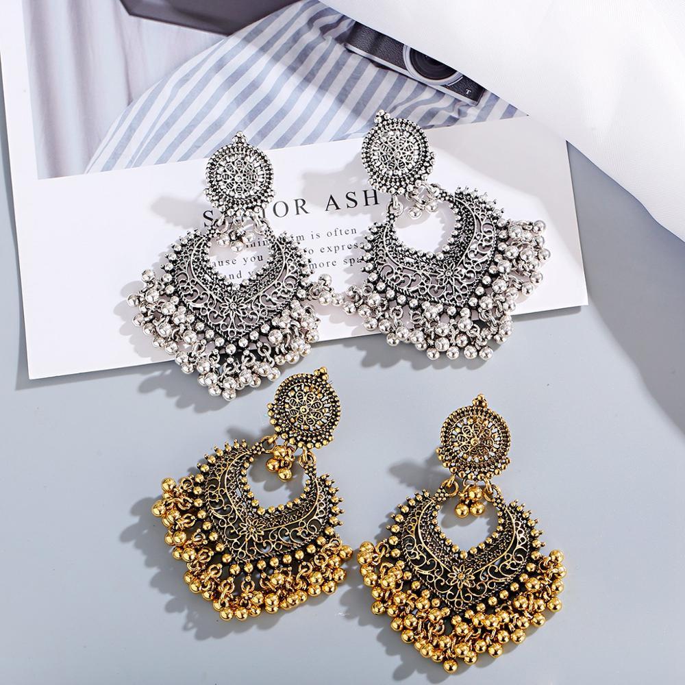 1 paire boucles doreilles pour femmes accessoires cloches indien bijoux boucles doreilles pour filles mode Vintage boucle doreille pendante cadeau Kolczyki
