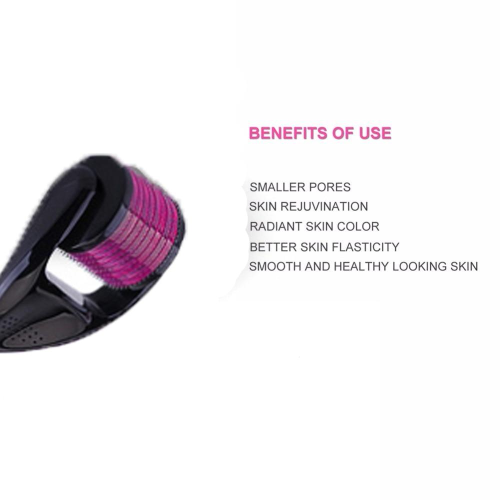 5Pcs Derma Roller Cosmetic Instrument Face Microneedle Roller Micro DRS 540 Needles Beauty Tool Titanium Dermaroller Treatment