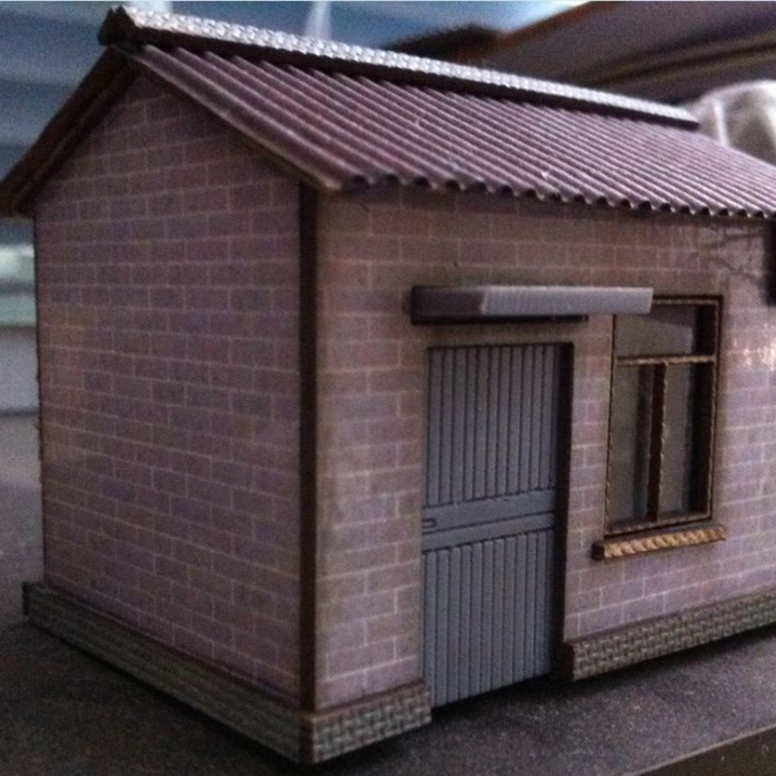 2019 nova chegada 187 escala de ho modelo de casa ferroviária areia mesa cena decoração ho escala modelo trem acessórios