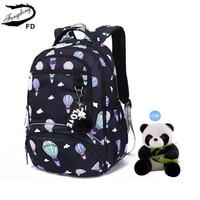 Fengdong school bags for girls waterproof kawaii school backpack kids cute backpack schoolbag girl gift backpacks for children